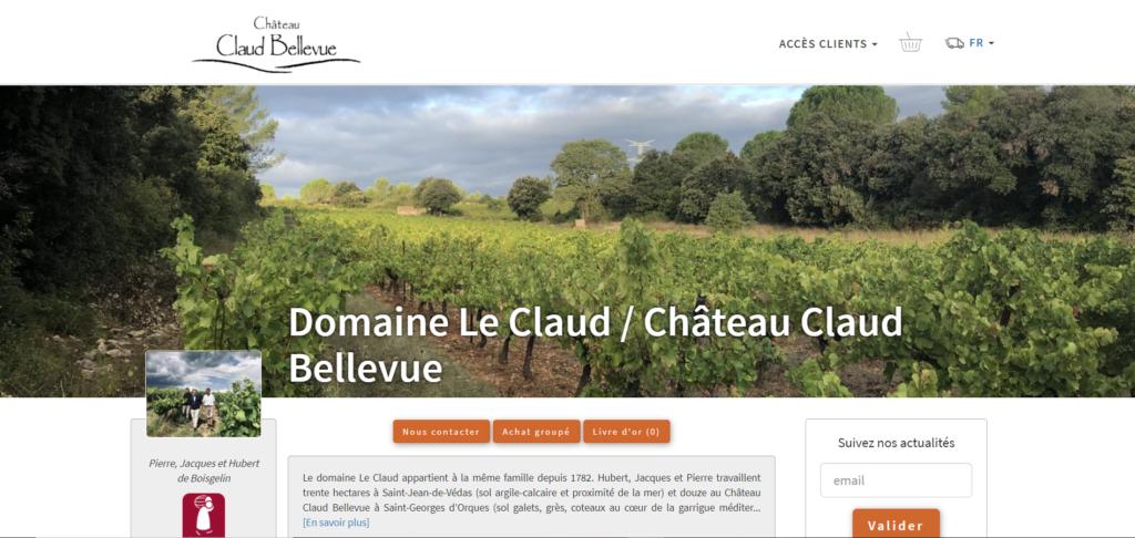 Boutique en ligne Domaine Le Claud